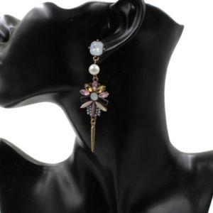 Jewelry - Rhinestone Statement Drop Earrings